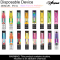 UNO AMPED 5% TOBACCO FREE NICOTINE 6.0ml/2000 PUFFS DISPOSABLE DEVICE 10ct/PK