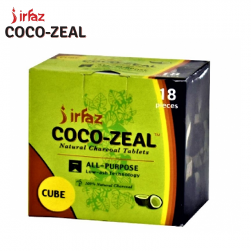 IRFAZ COCO ZEAL NATURAL CHARCOAL CUBE ALL PURPOSE