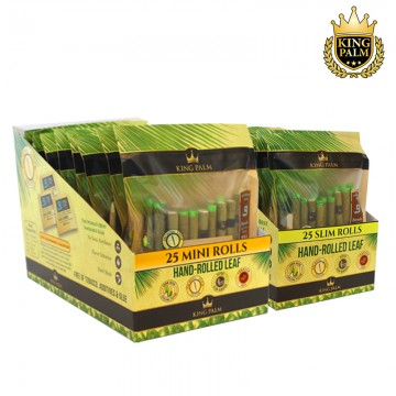 KING PALM MINI OR SLIM PRE-ROLLED POUCHES 25ct/8pk
