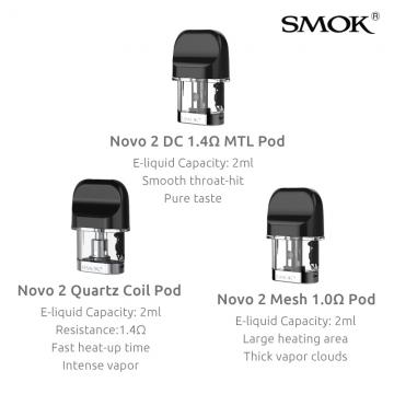 SMOK NOVO 2 REPLACEMENT PODS 3ct/PK
