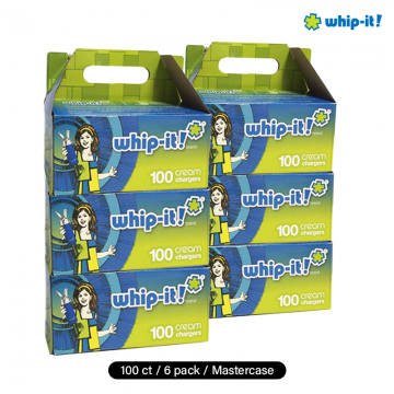 WHIP CREAM CHARGER WHIP-IT 100ct/6 pk MASTER CASE (FOOD PURPOSE ONLY)