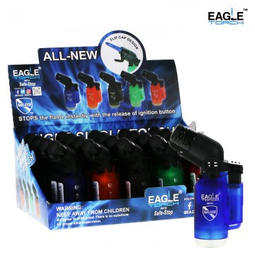 LIGHTER EAGLE ANGLE SINGLE TORCH ASSORTED COLOR 20ct/PACK
