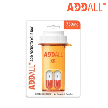 ADDALL XR - BRAIN BOOSTER ENERGY SUPPLEMENT 750mg/2ct/12PK