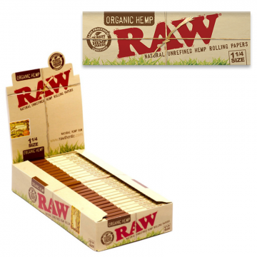 RAW ORGANIC 1 ¼ ROLLING PAPERS - 50ct/24pk