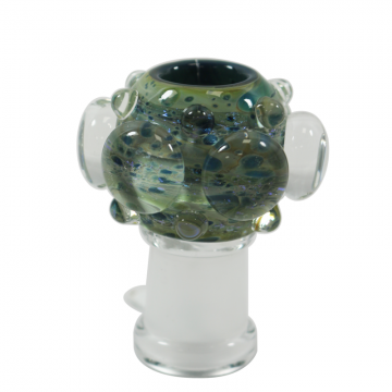 """EMPIRE """"BUBBLE GLACIER"""" CUSTOM MADE OIL DOME GLASS BOWL- 14/19 mm Female"""